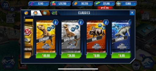 Jurassic World cards
